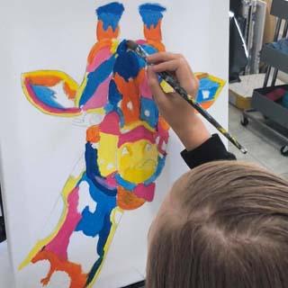 brisbane kids art classes at paint n pour art studio