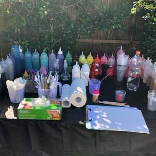 brisbane mobile art classes at paint n pour art studio