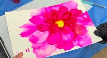 ink adult art classes in Brisbane at Paint n Pour Art Studio